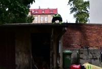 Pożar na ul. Sienkiewicza w Gnieźnie