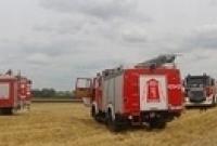 Pożar ścierniska w Goraninie! Podczas akcji zapalił się wóz strażacki OSP Czerniejewo