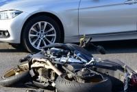 Zderzenie motocyklisty z samochodem osobowym