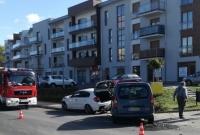 Zderzenie dwóch samochodów na ul. Orzeszkowej w Gnieźnie
