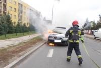 Pożar samochodu na ul. Wolności