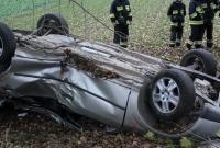 Dachowanie w Wydartowie! Kierowca nie dawał oznak życia!