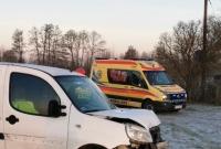 Wypadek między Łubowem a Leśniewem