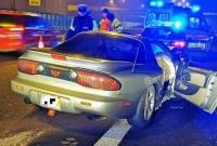 Pontiac Trans Am rozbity na węźle w Fałkowie