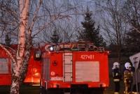 Pożar w Brzozogaju! W budynku mieszka rodzina objęta kwarantanną