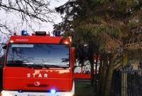 Pożar suszarni do zboża w Łubowie
