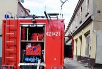 Pożar w centrum Gniezna! Spłonęła oficyna przy ul. Rzeźnickiej
