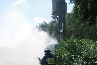 Pożar transformatora w Owieczkach