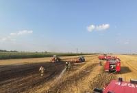 Pożar ścierniska w Karniszewie