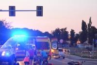 Wypadek z udziałem motocyklisty na skrzyżowaniu ul. Kostrzewskiego i Cienistej