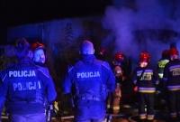 Pożar budynku przy ul. Kawiary w Gnieźnie