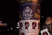 Plakaty Strajku Kobiet na wszystkich słupach ogłoszeniowych w Gnieźnie!