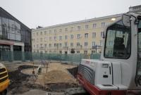 Trwa budowa zielonego skweru
