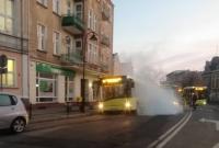 Zakleszczone hamulce w autobusie powodem alarmu