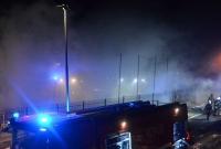 Duży pożar hurtowni sportowej we wsi Dalki!