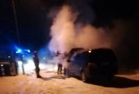 Pożar samochodu na os. Arkuszewo w Gnieźnie