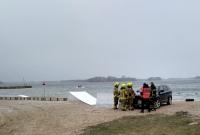 Nurek nie wypłynął na powierzchnię! Akcja ratunkowa na Jeziorze Niedzięgiel trwała półtorej godziny! Mężczyznę zabrał śmigłowiec!