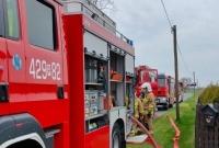 Pożar domu w Folwarku