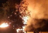 Spłonęła stodoła w Chłądowie