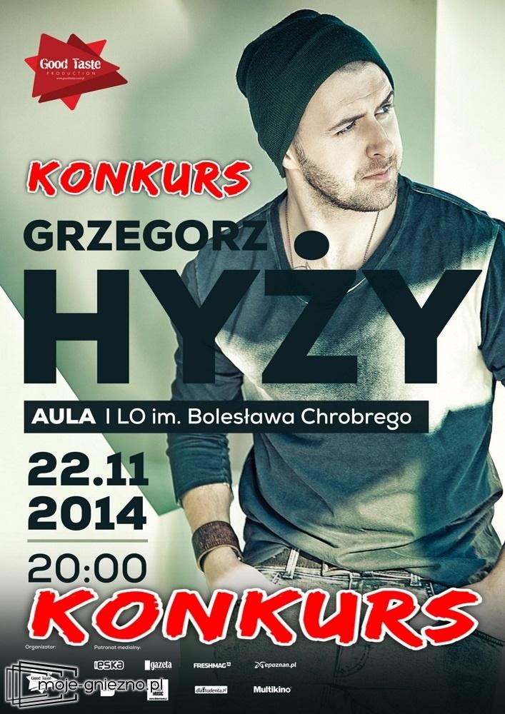 Bilety na koncert Grzegorza Hyżyego trafią do ...