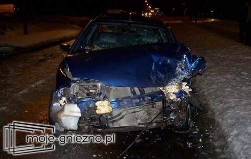 Wypadek drogowy na ul. Gdańskiej w Gnieźnie