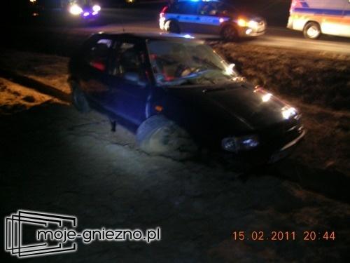 Wypadek drogowy w Gnieźnie