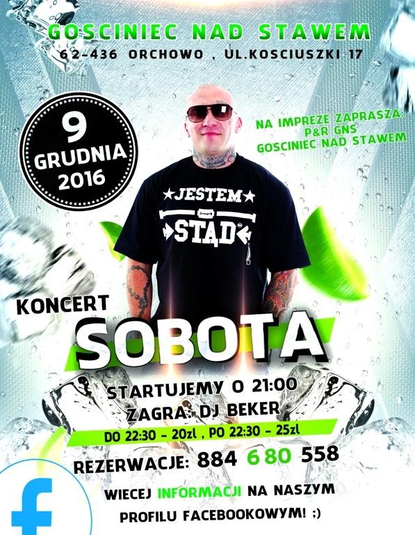 Koncert Soboty już 9 grudnia