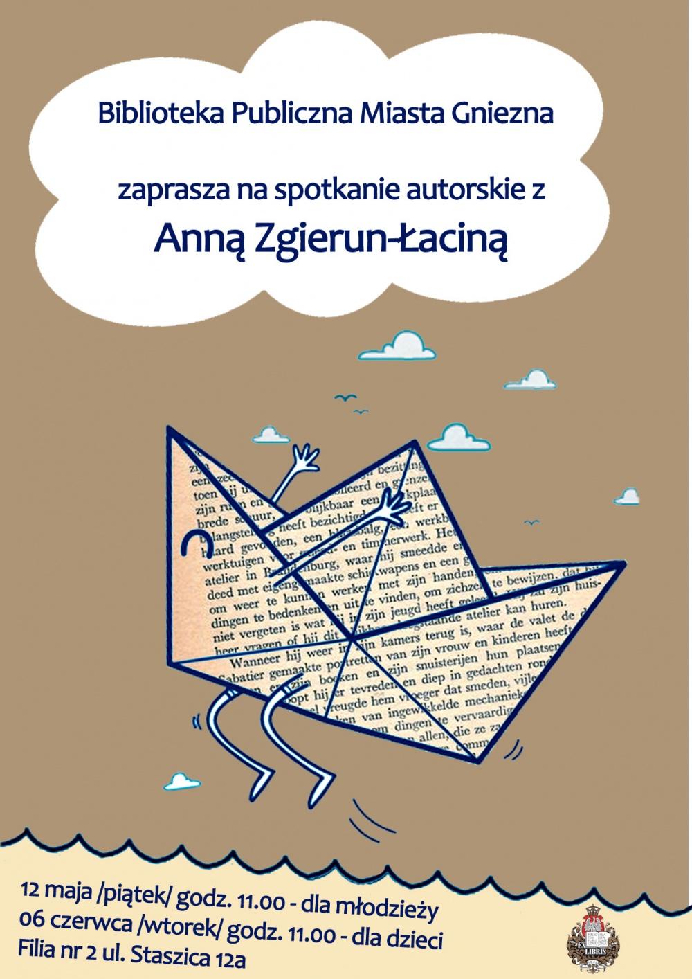 Spotkanie autorskie z Anną Zgierun- Łaciną