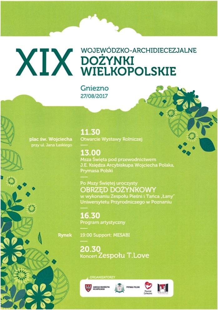 Dożynki Wielkopolskie w Gnieźnie! Gwiazdą wieczoru będzie koncert zespołu T.Love
