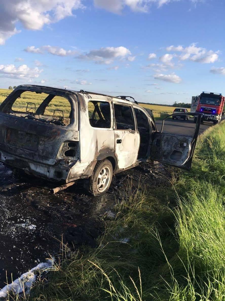 Pożar auta w Dziećmiarkach