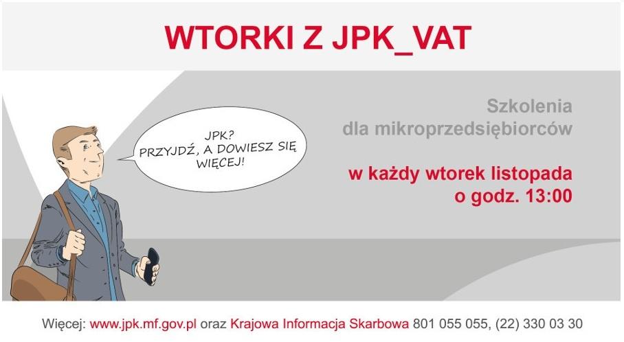 Wtorki z JPK_VAT - szkolenia dla podatników w każdym urzędzie skarbowym