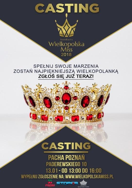 Castingi do konkursu Wielkopolska Miss 2018