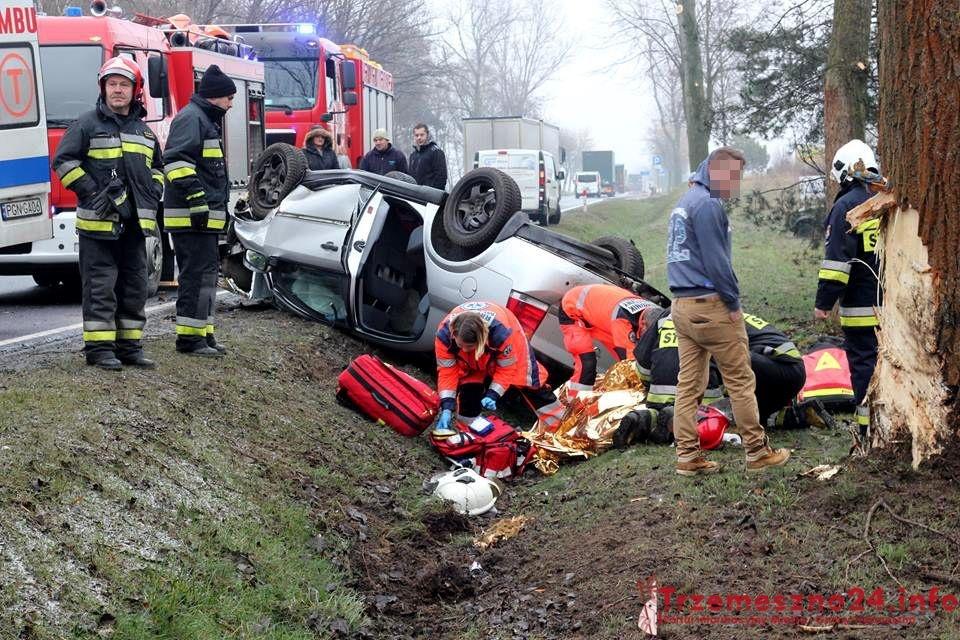 Wypadek w Lulkowie! Na miejsce wezwano śmigłowiec LPR