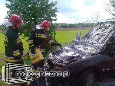Pożar samochodu osobowego w Jankowie Dolnym