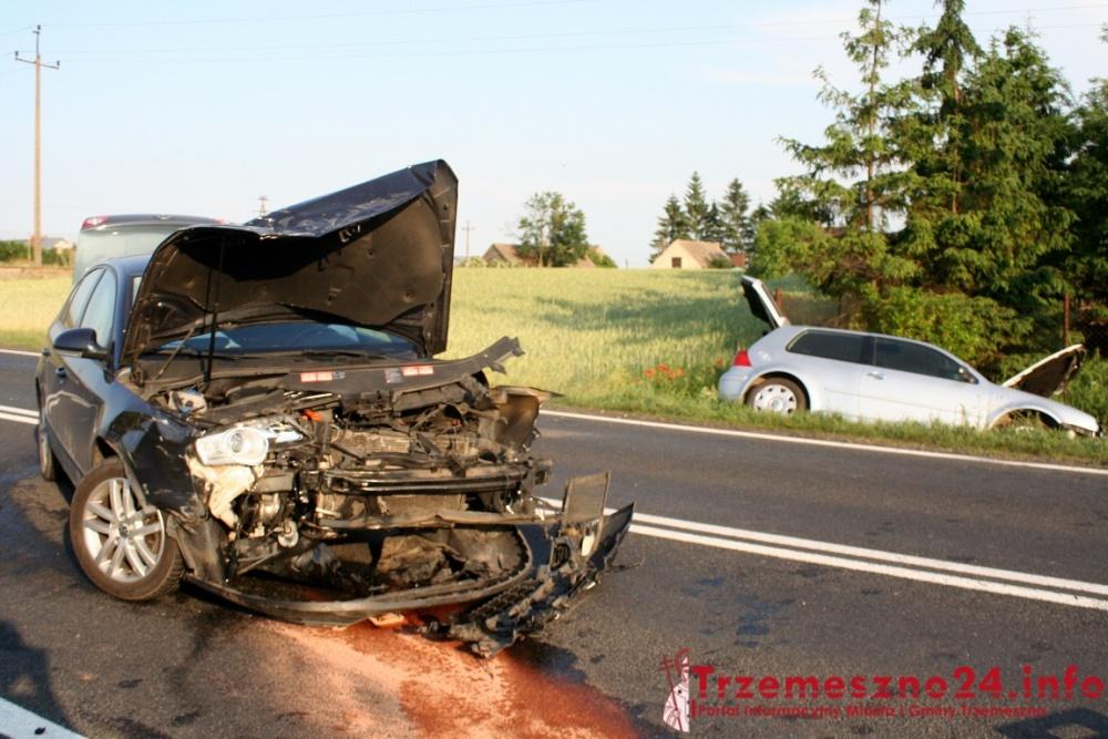 Zderzenie dwóch aut w Lubiniu! Trzy osoby w szpitalu