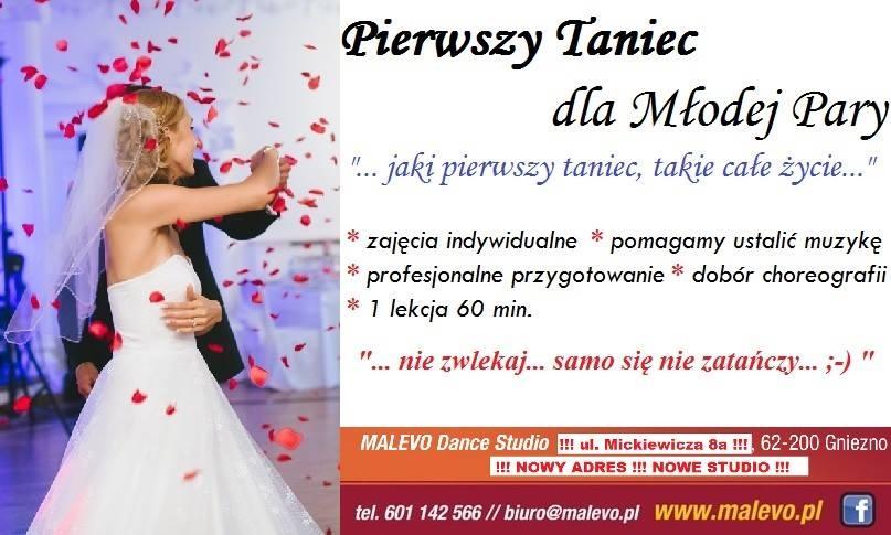 Pierwszy taniec weselny tylko z Malevo Dance Studio