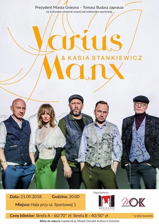Varius Manx na koncertowe otwarcie nowej hali
