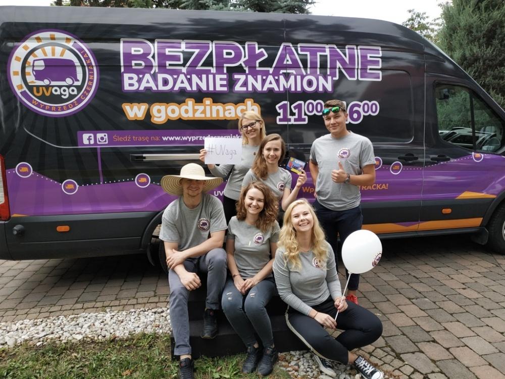Wyprzedź czerniaka - wpadnij do RakTRACKA w Gnieźnie na bezpłatne badanie znamion!