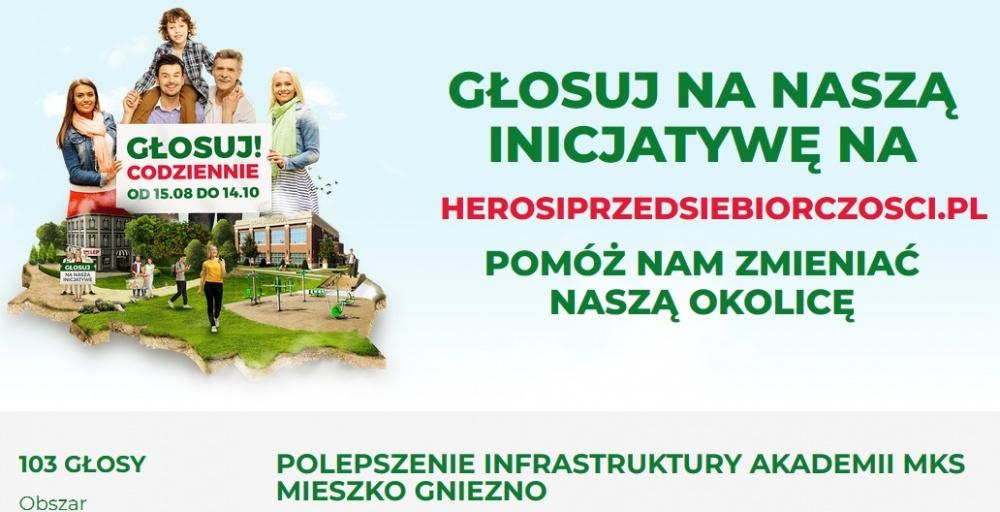 Głosuj na polepszenie infrastruktury Akademii MKS Mieszko Gniezno
