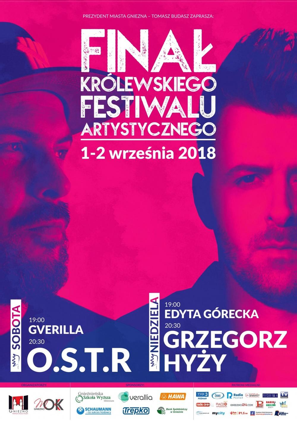 O.S.T.R. i Grzegorz Hyży zamkną KFA 2018