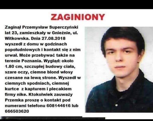 Zaginął Przemysław Superczyński