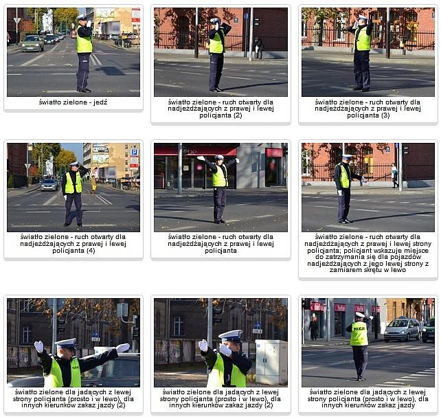 Znicz 2018 - policjant kieruje ruchem