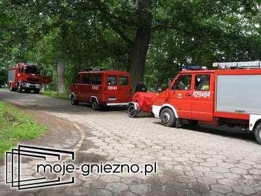 Akcja kontrolna Straży Pożarnej na terenie ośrodka w Skorzęcinie