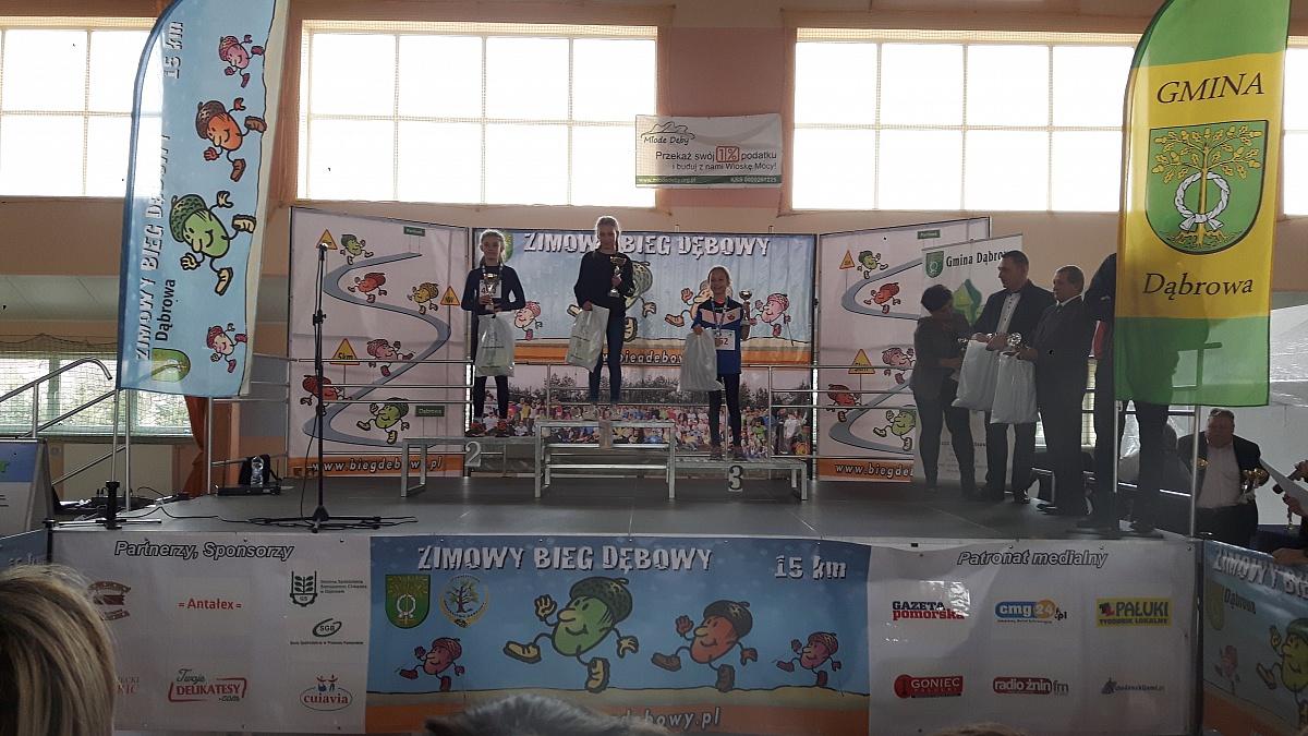 Zwycięstwo Nikoli Łukaszewskiej w 8. Zimowym Biegu Dębowym