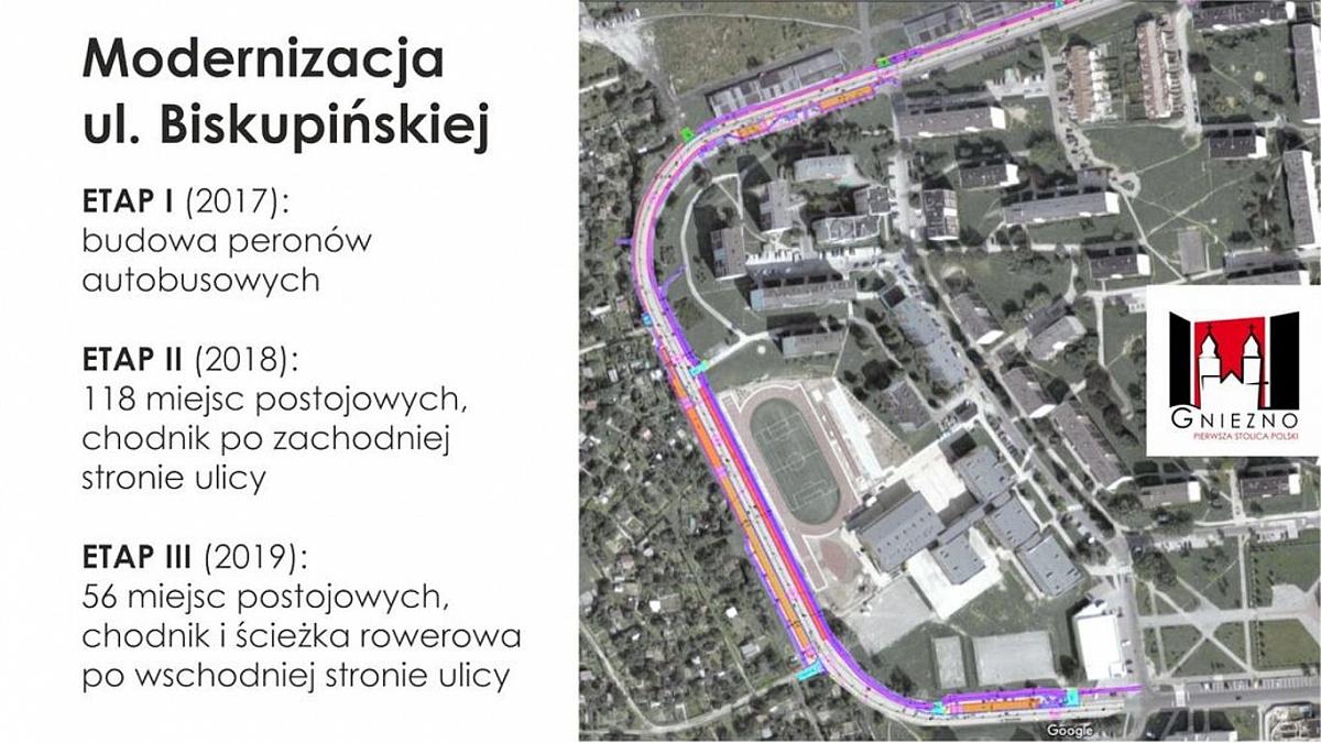 Ciąg dalszy modernizacji ulicy Biskupińskiej