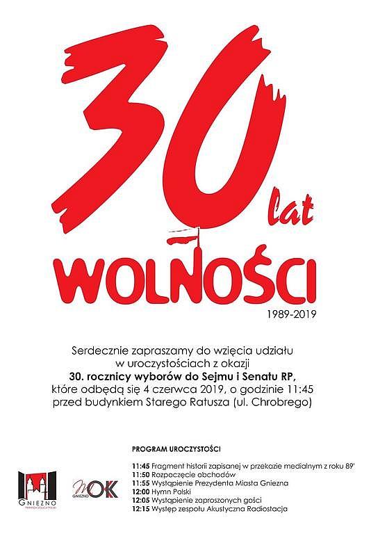 Świętuj z nami 30 lat wolności