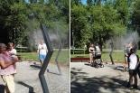 Zamgławiacze w Parku Trzech Kultur