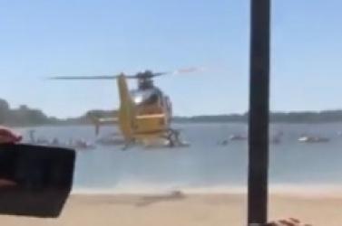 Uszkodził kręgosłup skacząc do wody! Zabrał go śmigłowiec LPR