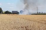Pożar zboża na pniu w Zdziechowie