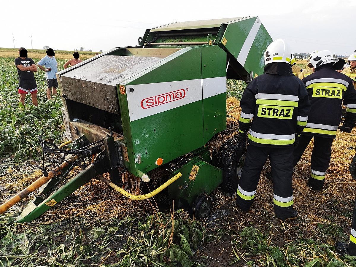 Kolejny pożar sprzętu rolniczego